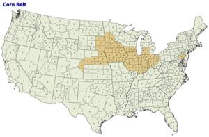 Corn belt Map