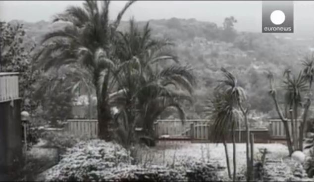 Snow in Palermo, Sicily