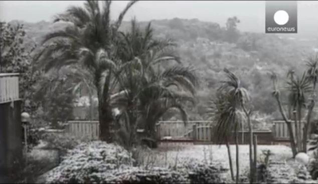 Snow in Palermo,Sicily