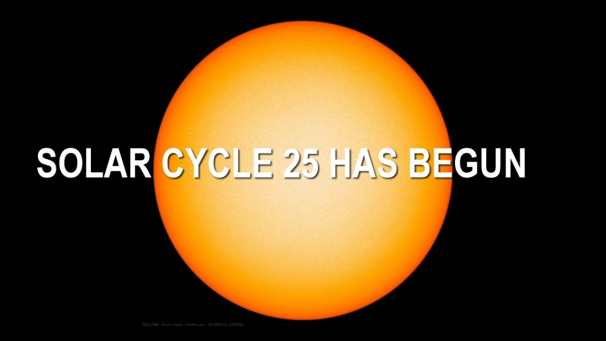It appears Solar Cycle 25 has begun – Solar cycle 24 one of the shortest and weakest ever